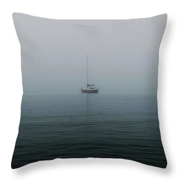 Sail With Emptiness  Throw Pillow