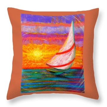 Sailaway Throw Pillow