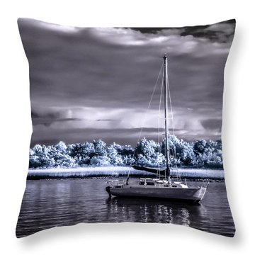 Sailboat 01 Throw Pillow