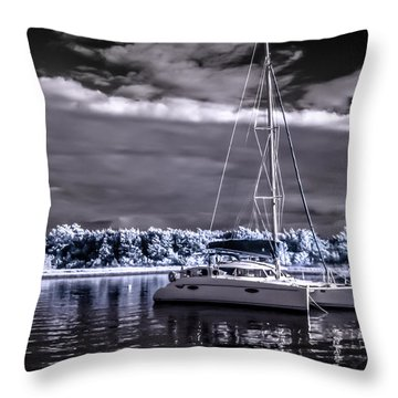 Sailboat 02 Throw Pillow