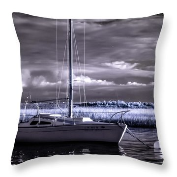 Sailboat 03 Throw Pillow