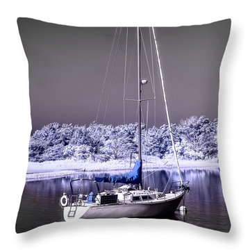 Sailboat 09 Throw Pillow