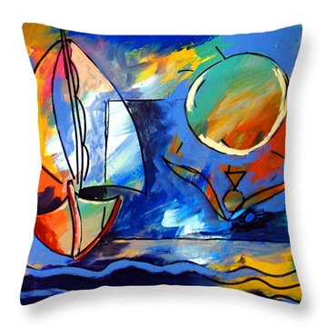 Sailboat 1 Throw Pillow