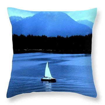 Sailboat 1 Throw Pillow by Randall Weidner