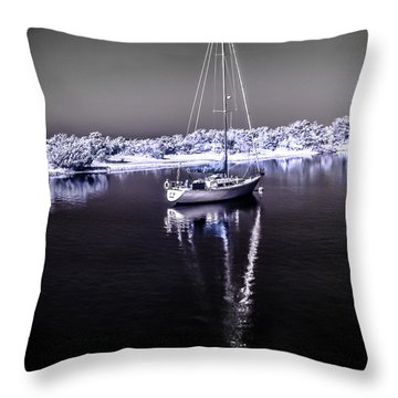 Sailboat 10 Throw Pillow
