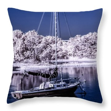 Sailboat 13 Throw Pillow