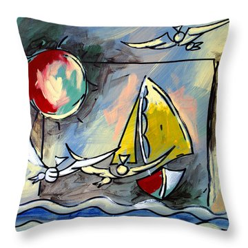 Sailboat 2 Throw Pillow