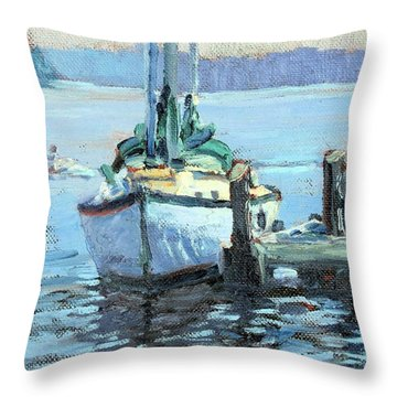 Sailboat At Rest Throw Pillow
