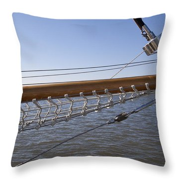 Sailboat Bowsprit Throw Pillow by Dustin K Ryan