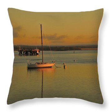 Sailboat Glow Throw Pillow