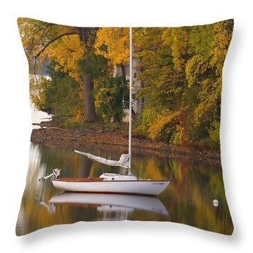 Sailboat In Alburg Vermont  Throw Pillow