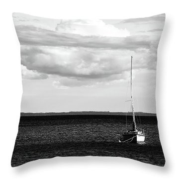 Sailboat In The Bay Throw Pillow by Onyonet  Photo Studios