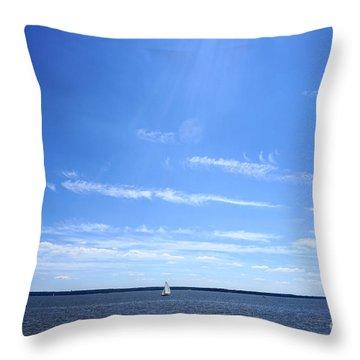 Sailboat Throw Pillow