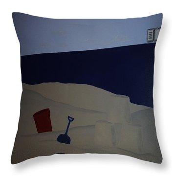 Sailboat Mural 4 Throw Pillow by Anna Villarreal Garbis