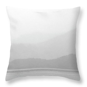Sailboat On New Zealands Cook Strait Throw Pillow by Mark Duffy