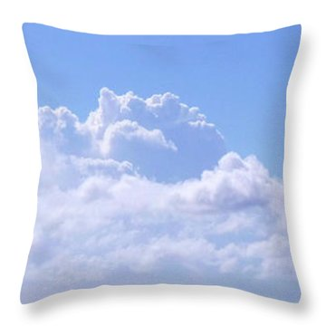 Throw Pillow featuring the photograph Sailboat Sea And Sky M5 by Francesca Mackenney