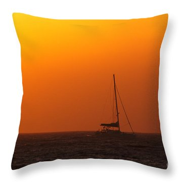 Throw Pillow featuring the photograph Sailboat Waiting by Jeremy Hayden