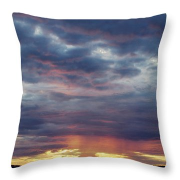 Sailboats On The Bay Throw Pillow by Elvira Butler