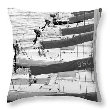 Sailboats Throw Pillow