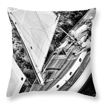 Sailing A Classic Throw Pillow