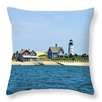 Sailing Around Barnstable Harbor Throw Pillow