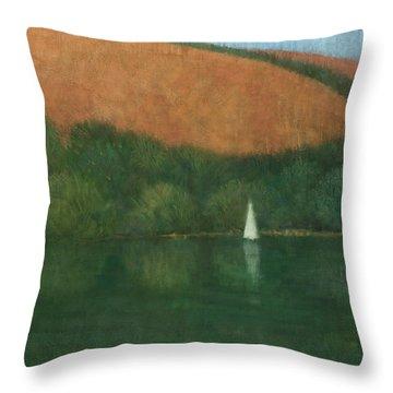 Sailing At Trelissick Throw Pillow