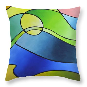 Sailing Away, Canvas Three Throw Pillow