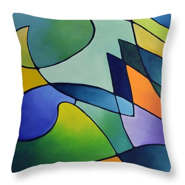 Sailing Away, Canvas One Throw Pillow