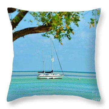Sailing Away To Key Largo Throw Pillow
