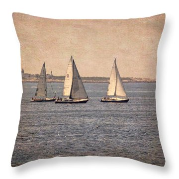 Throw Pillow featuring the photograph Sailing  by Betty Pauwels