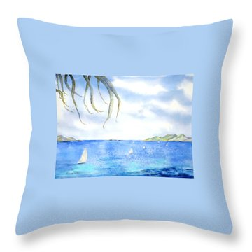Sailing Between The Islandsd Throw Pillow