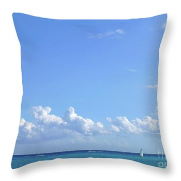 Throw Pillow featuring the photograph Sailing Blue Seas by Francesca Mackenney