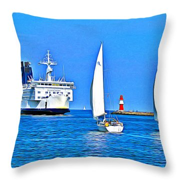 Sailing Boats Throw Pillow