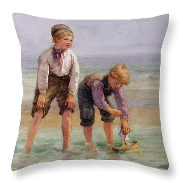 Sailing Boats  Throw Pillow by Edith Hume