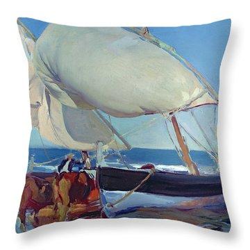 Sailing Boats Throw Pillow