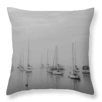 Sailing Bw Throw Pillow