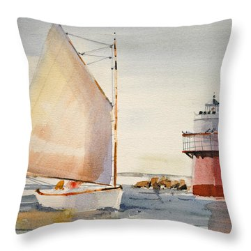 Sailing By Buglight  Throw Pillow