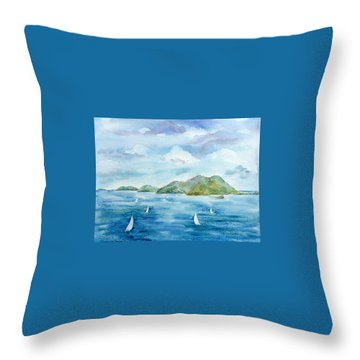 Sailing By Jost Throw Pillow