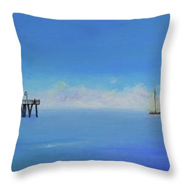 Sailing By San Clemente Throw Pillow