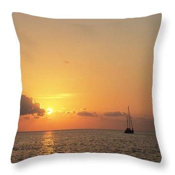 Crusing The Bahamas Throw Pillow