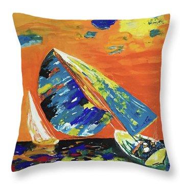 Sailing Throw Pillow