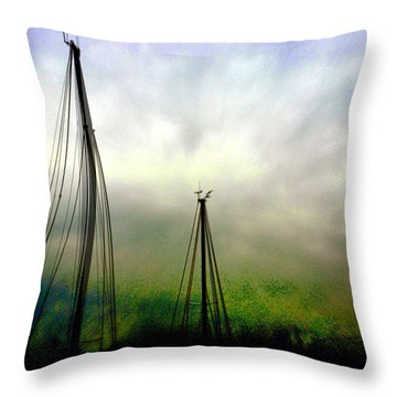 Throw Pillow featuring the photograph Sailing by EDi by Darlene