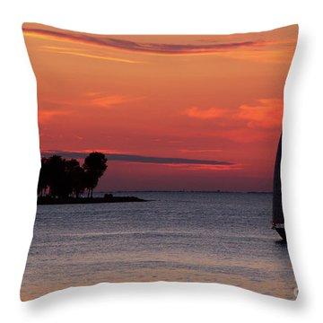 Sailing Home Throw Pillow