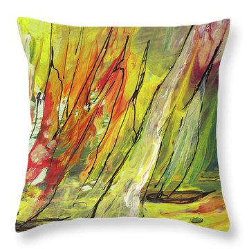 Sailing Impression 04 Throw Pillow by Miki De Goodaboom