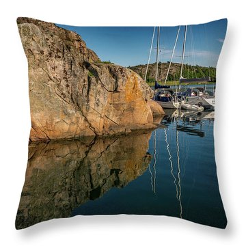 Sailing In Sweden Throw Pillow