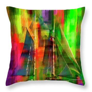 Sailing In The Abstract 2016 Throw Pillow