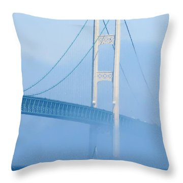 Sailing In The Fog Throw Pillow