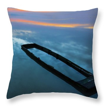 Sailing In The Sky Throw Pillow