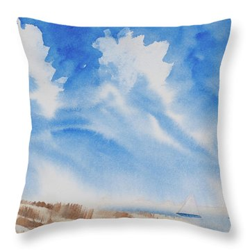 Fine Coastal Cruising Throw Pillow