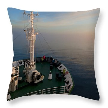 Sailing Into The Unknown... Throw Pillow by Nina Stavlund